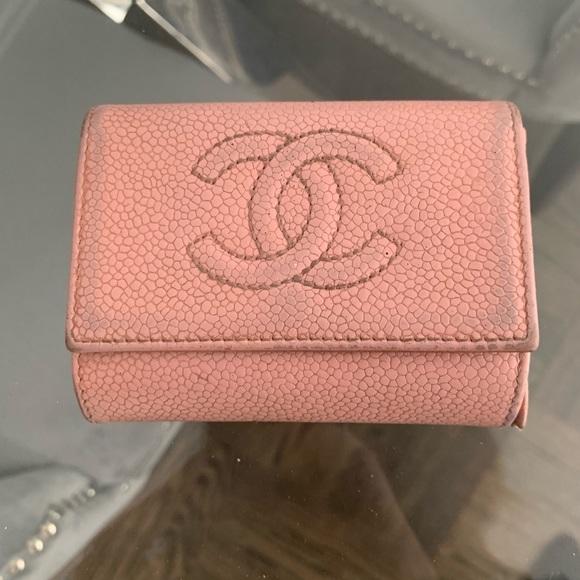 7798dcf210b2 CHANEL Accessories | 100 Authentic Pink Caviar Card Case | Poshmark